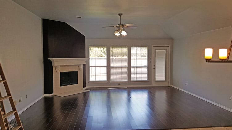 Interior repaint - living room - in The Colony, Texas