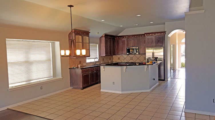 Interior repaint - kitchen - in The Colony, Texas