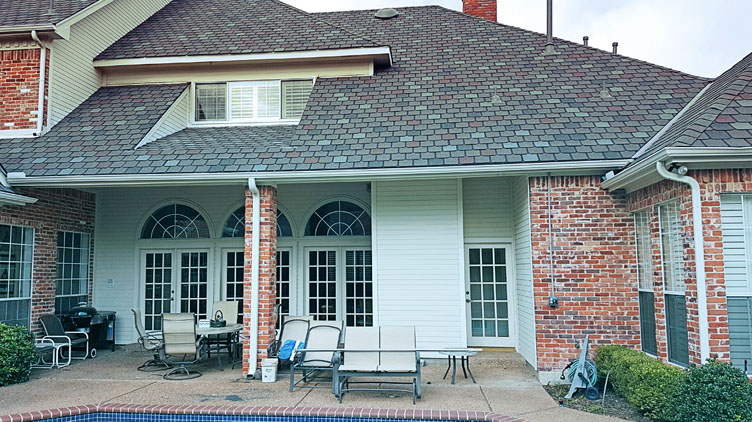 Patio area of Exterior paint job in Dallas, Texas