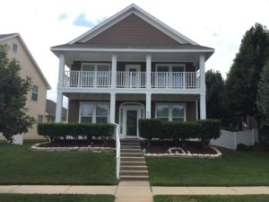 Vintage home painting project in Collin County