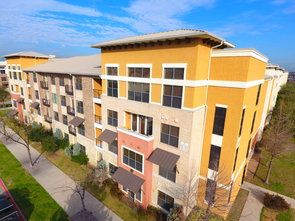 Apartment Building with New Paint job in Frisco