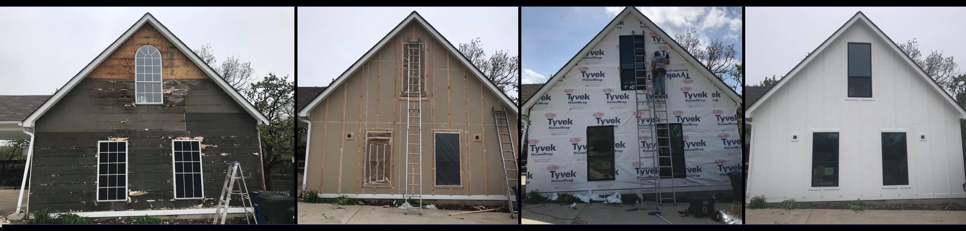 a church in Grapevine with exterior siding replaced and painted